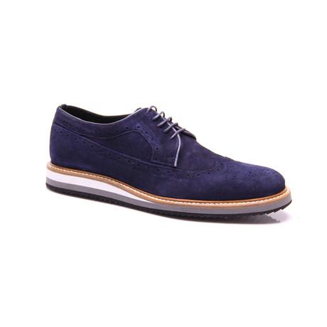 Suede Dress Shoes // Dark Blue (Euro: 39)