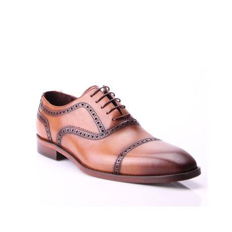 Georgio Cap Toe Dress Shoes // Tobacco (Euro: 39)