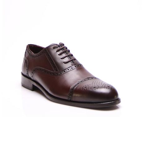 Cap Toe Dress Shoes // Brown (Euro: 39)