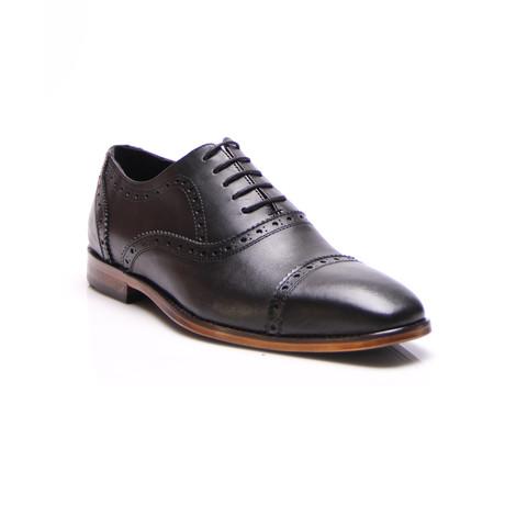 Georgio Cap Toe Dress Shoes // Black (Euro: 39)