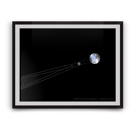 """The Great American Eclipse of 2017 // Giclée Print (16"""" x 12"""")"""