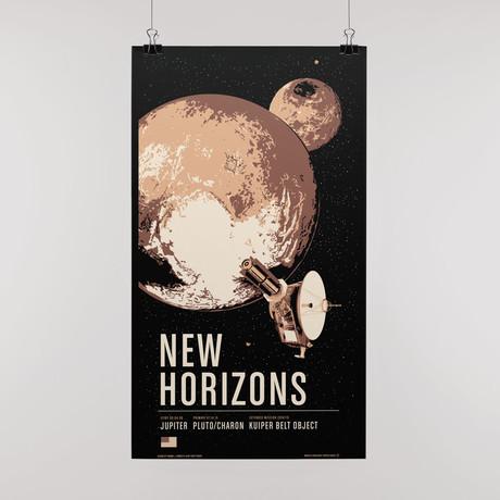 New Horizons // Historic Robotic Spacecraft Series // Screen Print