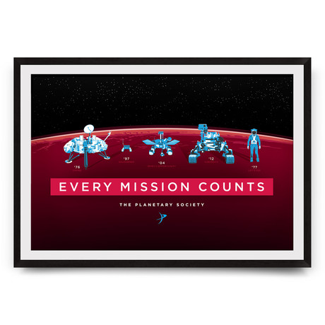 """Every Mission Counts // The Planetary Society // Giclée Print (18"""" x 12"""")"""