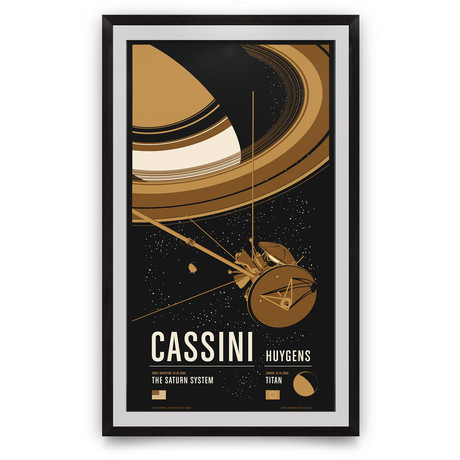 "Cassini // Historic Robotic Spacecraft Series // Giclée Print (12"" x 18"")"