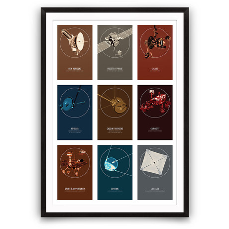 "Robotic Spacecraft Only // Giclée Print (12"" x 18"")"