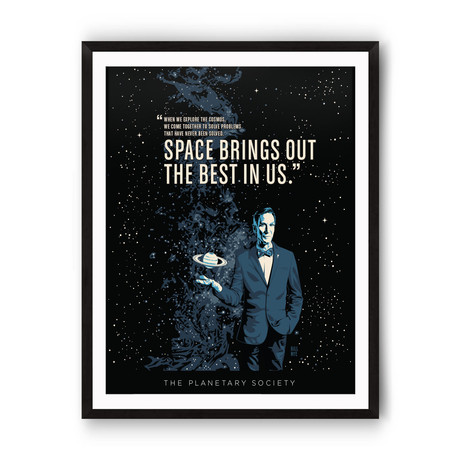 """Bill Nye Best in Us // The Planetary Society // Giclée Print (12"""" x 18"""")"""