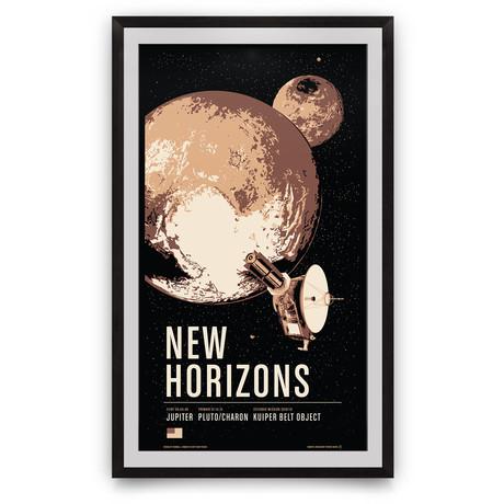 "New Horizons // Historic Robotic Spacecraft Series // Giclée Print (12"" x 18"")"
