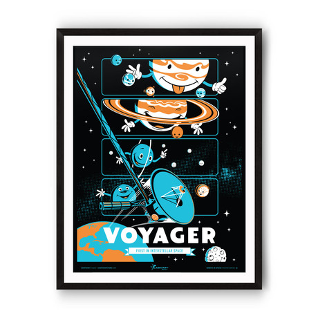 Voyager // Robots in Space Series // Giclée Print