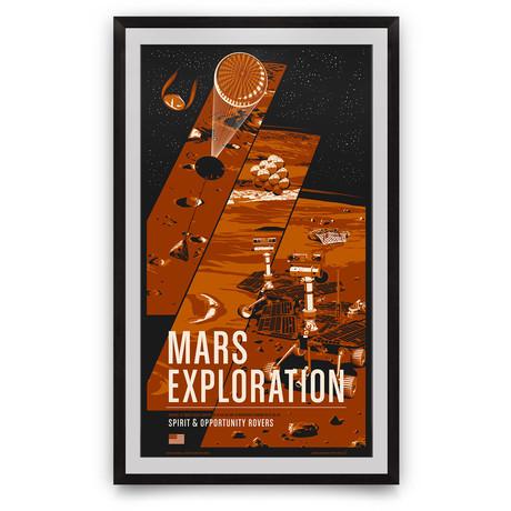 "Mars Rovers // Historic Robotic Spacecraft Series // Giclée Print (12"" x 18"")"