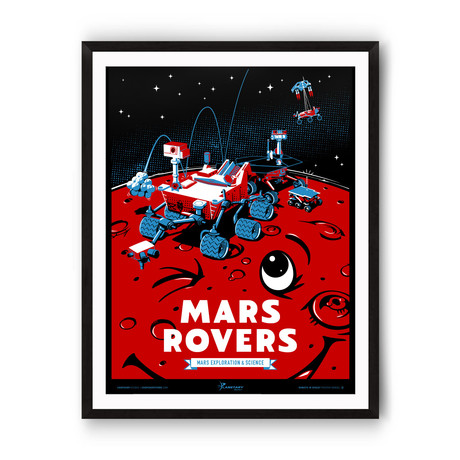 Mars Rovers // Robots in Space Series // Giclée