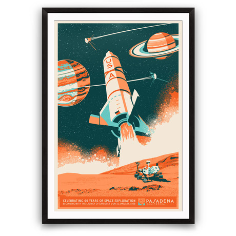 Pasadena 60 Years of Space Exploration // Giclée Print