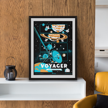Voyager // Robots in Space Series // Screen Print