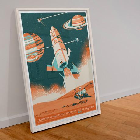 Pasadena 60 Years of Space Exploration // Screen Print