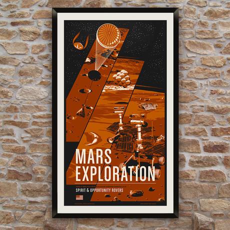 Mars Rovers // Historic Robotic Spacecraft Series // Screen Print