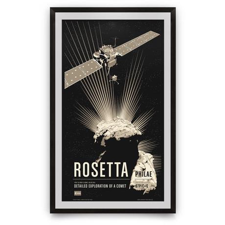 "Rosetta // Historic Robotic Spacecraft Series // Giclée Print (12"" x 18"")"
