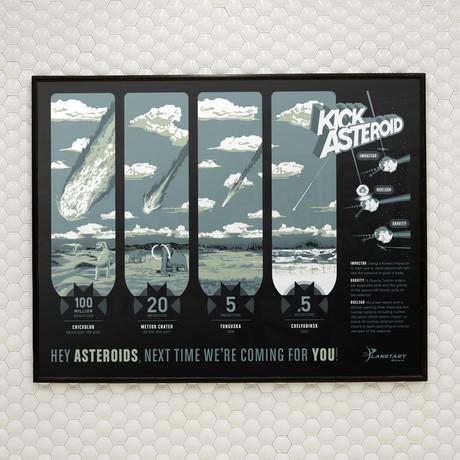 KickAsteroid // The Planetary Society // Screen Print
