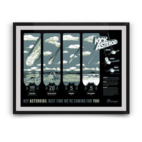 KickAsteroid // The Planetary Society // Giclée Print