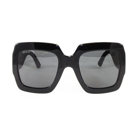 Gucci Women's Sunglasses // GG0102S // Black + Gold + Gray
