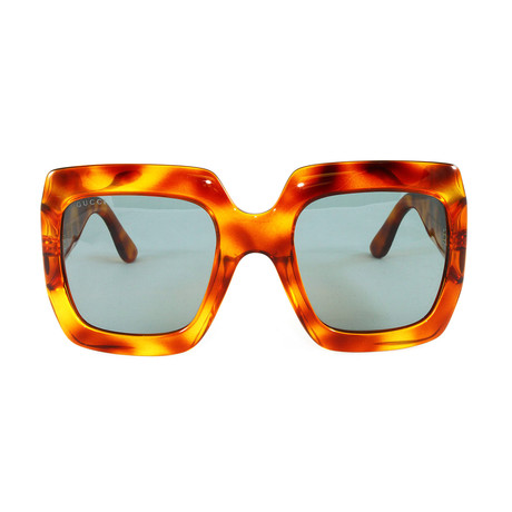 Gucci Women's Sunglasses // GG0053S // Avana Shiny Green