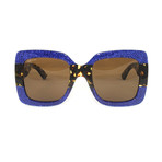 Gucci Women's Sunglasses // GG0083S // Blue Havana