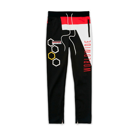Adventure Club Track Pants // Black + Red (XS)