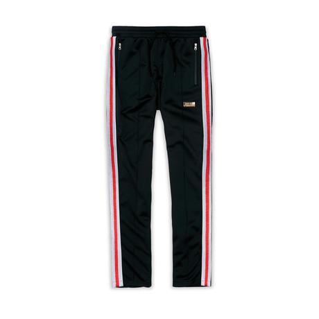Fulton Track Pants // Black + Red (XS)