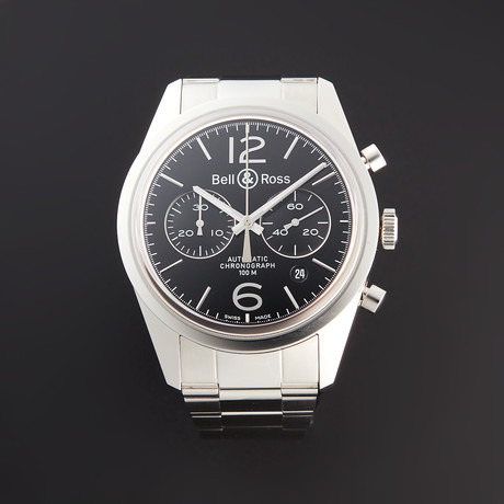 Bell & Ross BR Officer Chronograph Automatic // BRG126-BL-ST/SST // Pre-Owned