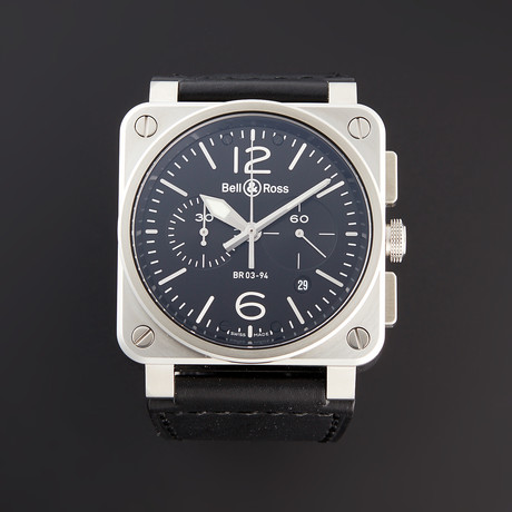 Bell & Ross BR 03-94 Chronograph Automatic // BR0394-BL-SI/SCA // Pre-Owned