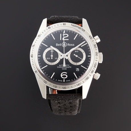 Bell & Ross BR 126 GT Chronograph Automatic // BRV126-BS-ST/SF // Pre-Owned