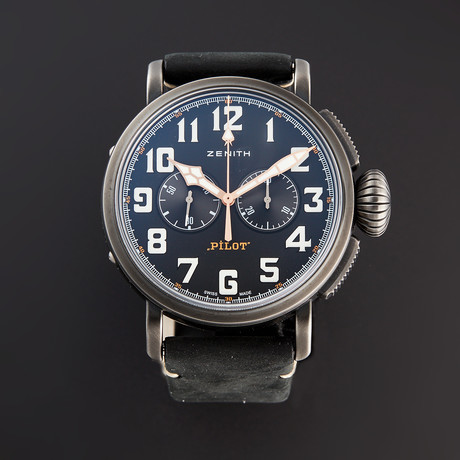 Zenith Pilot Type 20 Chronograph Ton-Up Aged Automatic // 11.2432.4069/21.C900 // Pre-Owned
