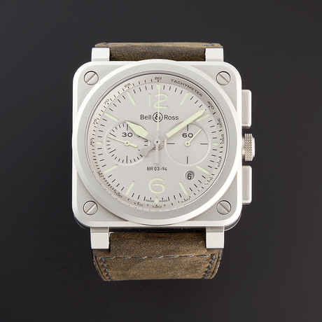 Bell & Ross BR 03-94 Horolum Chronograph Automatic // BR0394-GR-ST/SCA // Pre-Owned