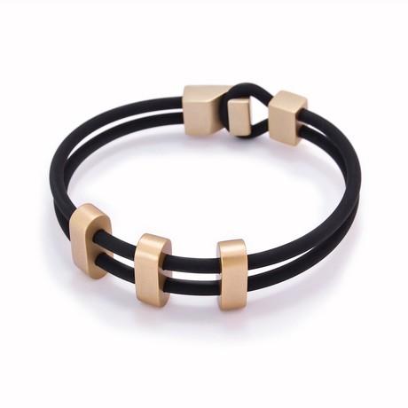 """Binomial Bracelet // 3-Champagne Oval + Black (7"""")"""
