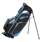 Versa Golf Bag + Izzo Golf Hat + Towel (Blue, Black, Gray)