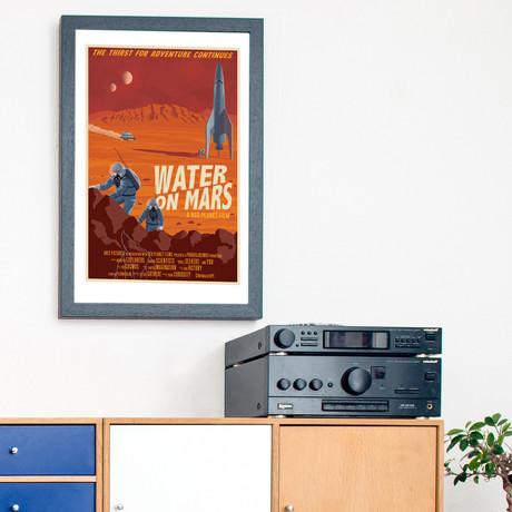 """Water on Mars Print (12""""W x 18""""H x 0.1""""D)"""