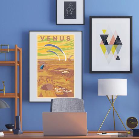 "Venus Paragliding Print (12""W x 18""H x 0.1""D)"