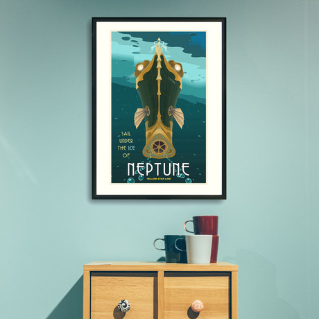 "Neptune Travel Print (12""W x 18""H x 0.1""D)"