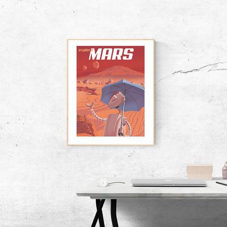 "Explore Mars Print (12""W x 18""H x 0.1""D)"