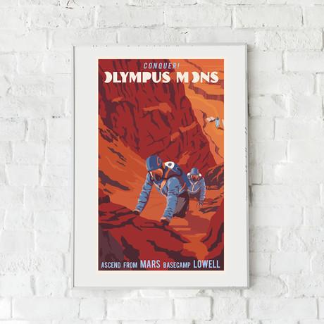 "Mars Mountain Climbing Print (12""W x 18""H x 0.1""D)"