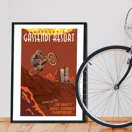 """Mercury Cycling Print (12""""W x 18""""H x 0.1""""D)"""