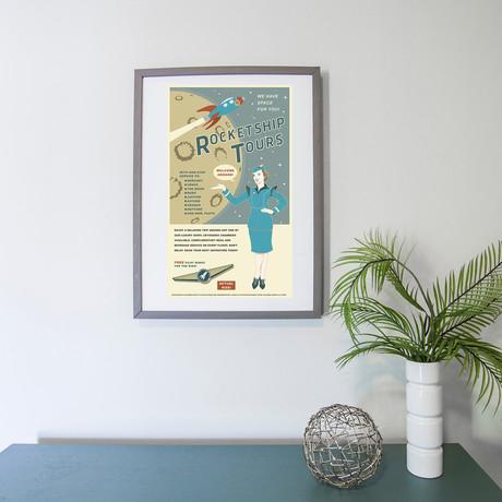 """Rocket Tours Travel Print (12""""W x 18""""H x 0.1""""D)"""
