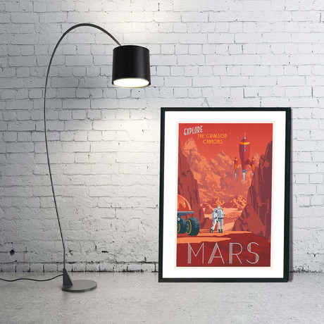 "Mars Travel 2.0 Print (12""W x 18""H x 0.1""D)"