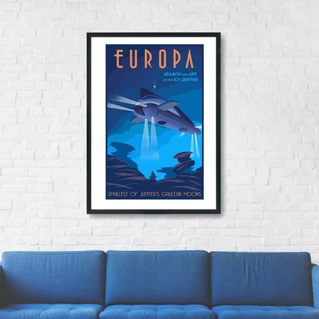 "Europa Travel Print (12""W x 18""H x 0.1""D)"