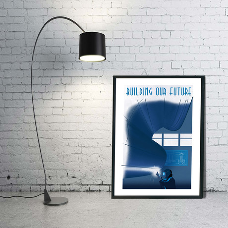 "Rocket Building Print (12""W x 18""H x 0.1""D)"