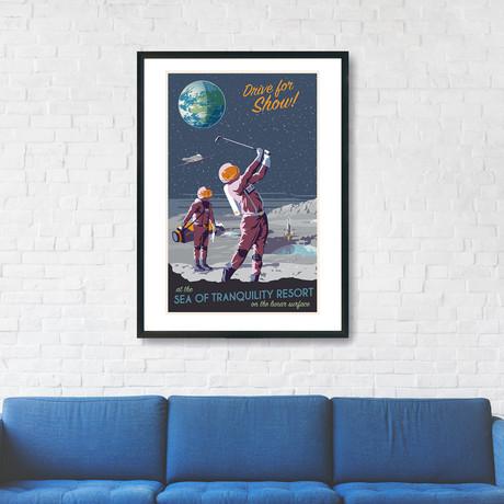 "Moon Golfing Print (12""W x 18""H x 0.1""D)"