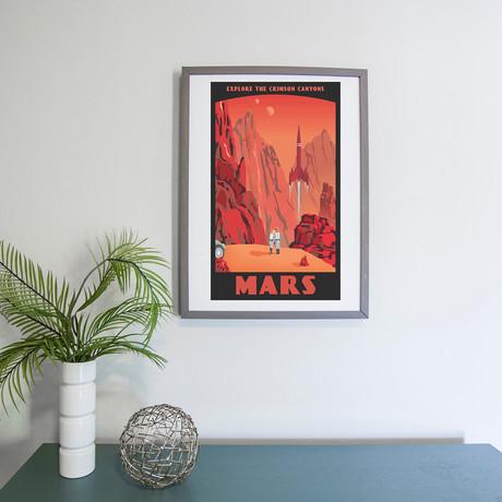"Mars Travel Print (12""W x 18""H x 0.1""D)"