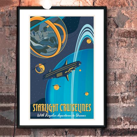 "Uranus Bubble Print (12""W x 18""H x 0.1""D)"