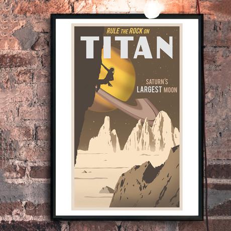 "Titan Travel Print (12""W x 18""H x 0.1""D)"
