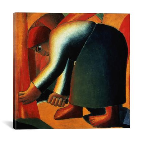 "Woman Cutting // Kazimir Severinovich Malevich // c.1900 (18""W x 18""H x 0.75""D)"