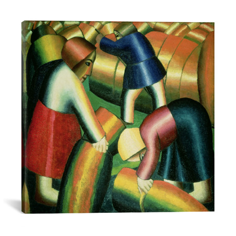 "Taking in the Rye // Kazimir Severinovich Malevich // 1912 (18""W x 18""H x 0.75""D)"