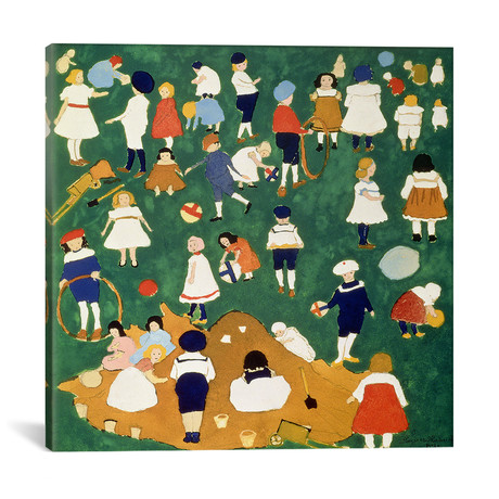 "Children // Kazimir Severinovich Malevich // 1908 (18""W x 18""H x 0.75""D)"